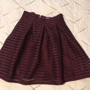 Xhiliration burgundy skirt